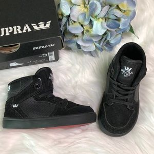 Supra Vaider black high top sneakers size 5